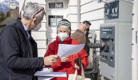 Einschulung für Fahrschein-Automaten
