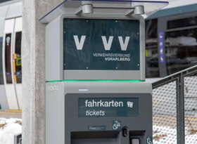 Einschulung Ticketautomat Bahnhof Vandans